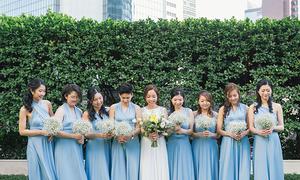 Đám cưới sắc xanh baby cho ngày hè dịu mát