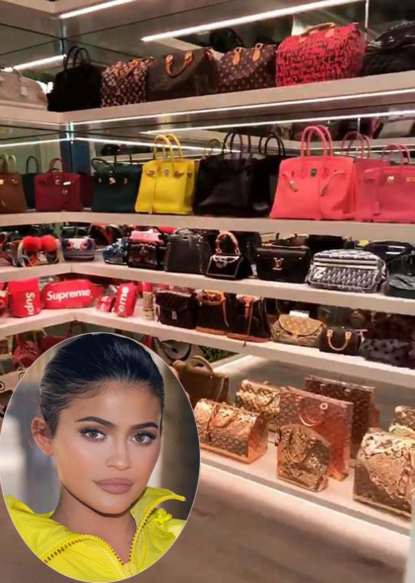 Bên trong tủ đồ của Kylie Jenner.