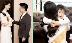 Dương Thùy Linh ôm chặt con trai trước khi giành vương miện