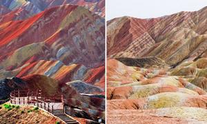 Sự thật về dãy núi cầu vồng sống ảo ở Trung Quốc
