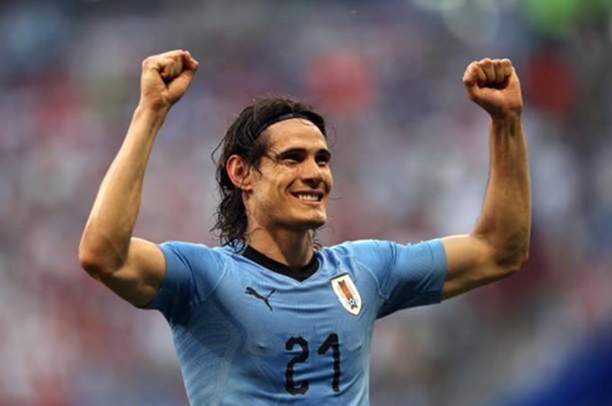 Cavani có bàn thắng đầu tiên sau ba trận đấu ở World Cup 2018. Ảnh: AP.