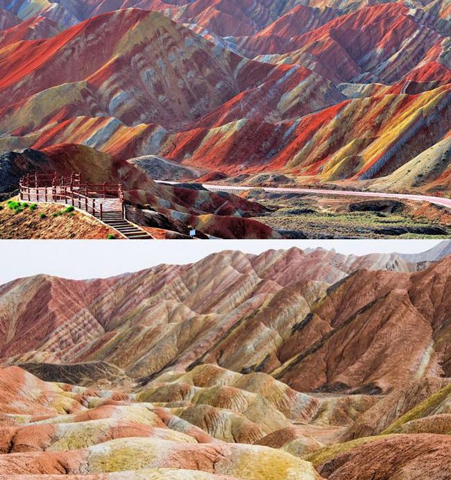 Dãy núi bị tố là làm màu quá đà so với thực tế.