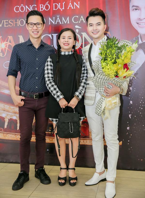 MC Anh Quân, ca sĩ Diễm Phương là những người bạn thân thiết trong nghề của Nam Cường.