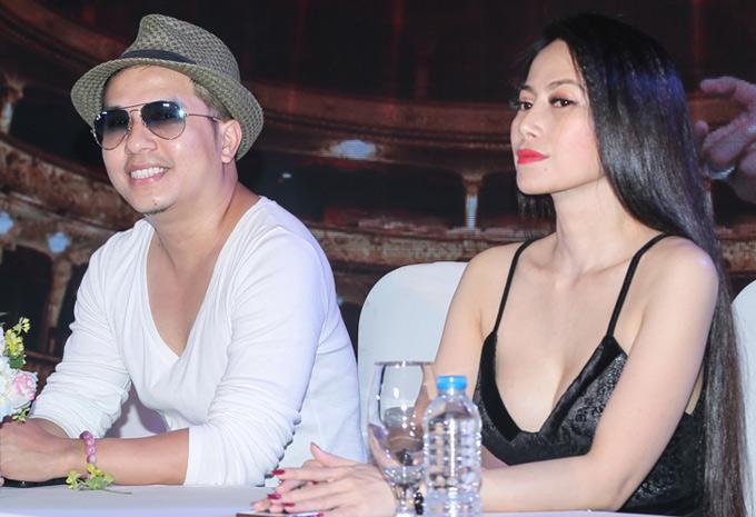 Ca sĩ Dương Đình Trí và người đẹp Trang Thảo hỗ trợ Nam Cường làm liveshow.