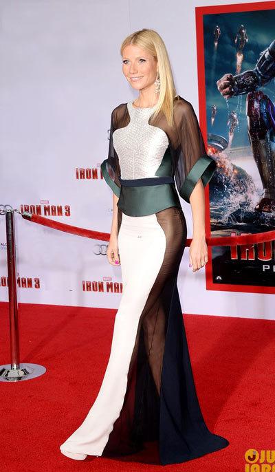 Gwyneth Paltrow Iron Man 3 Hollywood Premiere, Antonio Berardi.