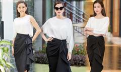 Sao Việt yêu thích mẫu váy thanh lịch như Tăng Thanh Hà