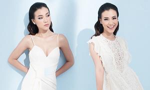 Á hậu Hoàng Oanh tìm lại vẻ nữ tính với váy hai dây
