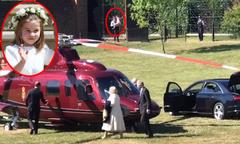 Công chúa Charlotte ra tận cổng vẫy tay chào ông nội