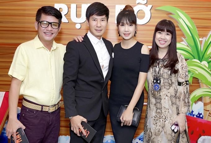 Cặp đôi hội ngộ nghệ sĩ Tấn Beo và nhiều bạn bè, đồng nghiệp.