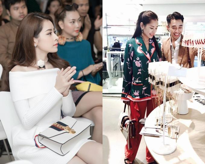 Nguời đẹp không ngần ngại mua chiếc túi Gucci Sylvie giá hơn2,600 USD (khoảng 59triệu đông) và sử dụng lần đầu trong một sự kiện cuối tháng 10/2016. Sau đó gần một năm, Chi Pu chưng diện chiếc túi trong chuyến công tác tại Thụy Điển với stylist Hoàng Ku.