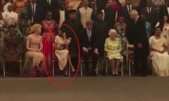 Meghan bị chỉ trích tư thế ngồi 'thiếu tôn trọng' tại sự kiện có Nữ hoàng