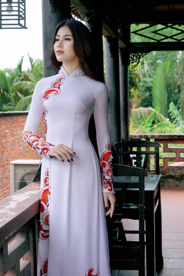 Hoa hậu, Á hậu biển Việt Nam toàn cầu đọ dáng với áo dài - 3