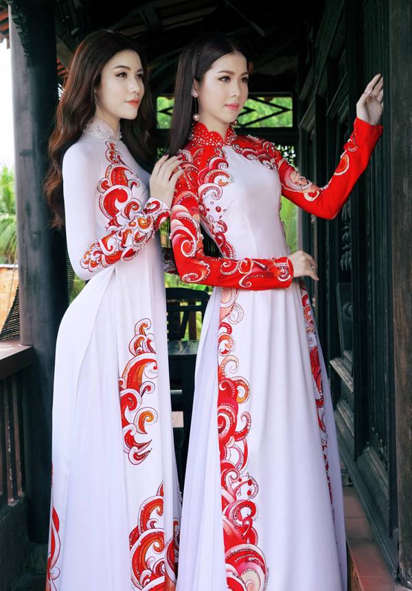Hoa hậu, Á hậu biển Việt Nam toàn cầu đọ dáng với áo dài - 7