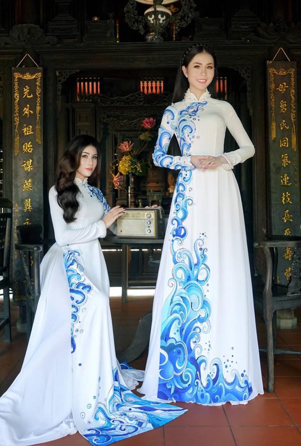 Hoa hậu, Á hậu biển Việt Nam toàn cầu đọ dáng với áo dài - 8