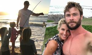 Cuộc sống bình yên bên biển cả của gia đình Chris Hemsworth
