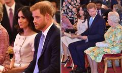 Meghan để tóc giống chị dâu Kate khi dự sự kiện cùng chồng
