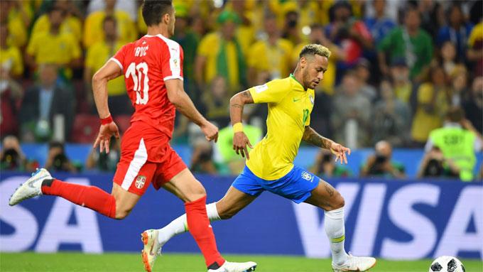 Neymar và các đồng đội có chiến thắng 2-0 để đứng đầu bảng. Ảnh: FIFA.