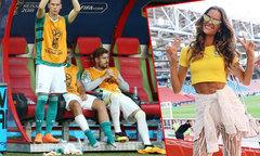 Siêu mẫu Brazil khoe dáng trên sân, bạn trai thủ môn Đức u sầu ở ghế dự bị