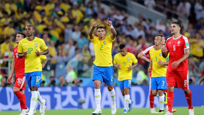 Thiago Silva có bàn thắng thứ hai ở các kỳ World Cup. Ảnh: FIFA.