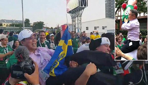 Fan Hàn Quốc được CĐV Mexico tung hô tại Nga và Mexico.