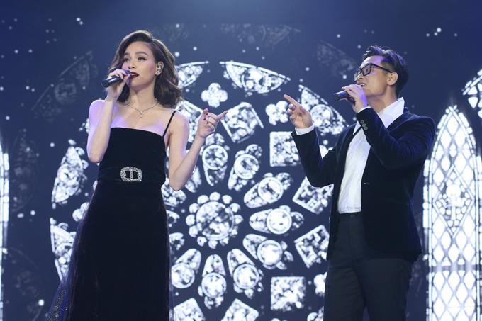 Hồ Ngọc Hà cùng thể hiện ca khúc Cả một trời thương nhớ với ca sĩ Hà Anh Tuấn.