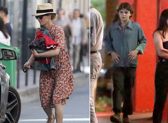 Vanessa Paradis trông khá vội vã trên đường phố Paris hôm 25/6 - một ngày trước khi cáo lỗi không thể đến dự lễ ra mắt phim mới vì con trai bị bệnh nặng (ảnh phải).
