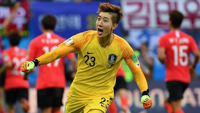 Thủ mônCho Hyun-woo là người hùng của tuyển Hàn Quốc trong chiến thắng 2-0 trước Đức. Ảnh: AS.