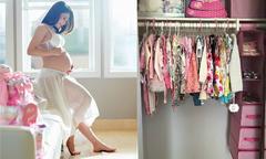 Thanh Thảo khoe tủ đầy quần áo của con gái sắp chào đời