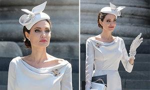 Angelina Jolie mặc kiểu cách trong sự kiện của hoàng gia Anh