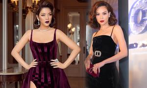 Mỹ nhân Việt 'hâm nóng' mốt váy nhung