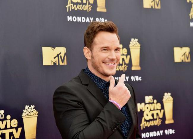 Chris Pratt tại lễ trao giải Movie & TV 2018 tại Mỹ. Ảnh: CNBC.