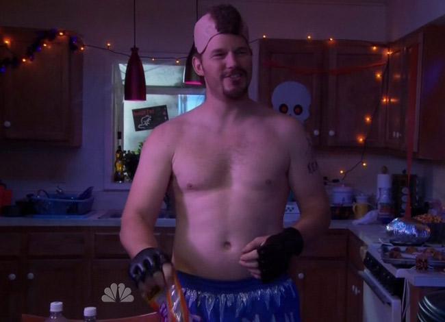 Chris Pratt tăng cân lên 100kg để nhập vai anh chàng béo trong seris phim hài Parks and Recreation. Ảnh: CNBC.