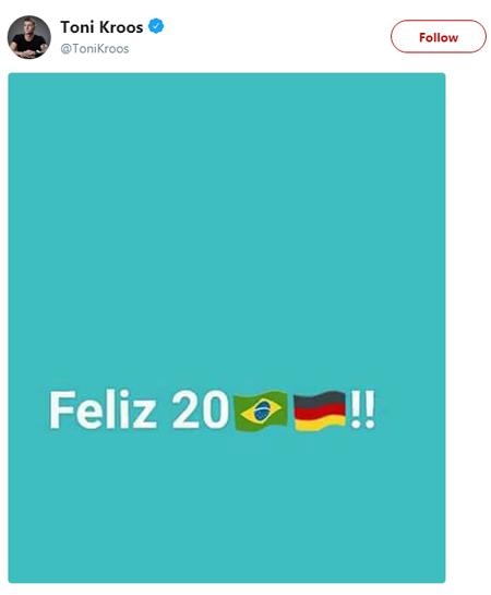 Báo chí Brazil troll Toni Kroos sau khi Đức thua Hàn