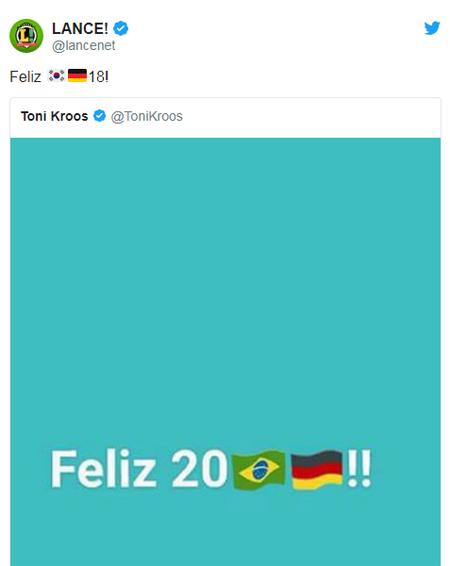 Báo chí Brazil troll Toni Kroos sau khi Đức thua Hàn - 1