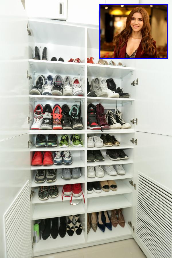 Minh Tú lại dành niềm đam mê cho các đôi giày sneaker.