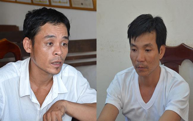 Nguyễn Tấn Dũng và Nguyễn Ngọc Trung tại cơ quan điều tra. Ảnh: Phước Hiệp.