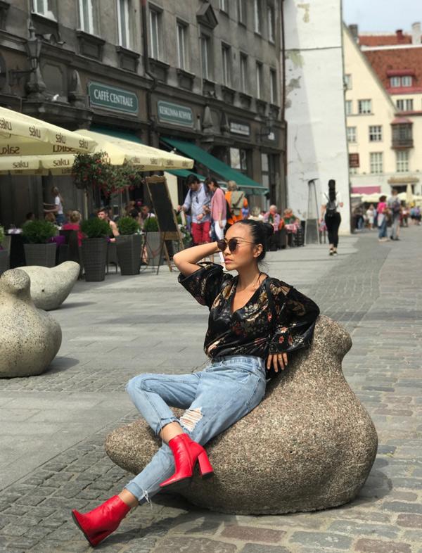 Đoan Trang còn đi thăm đất nước Phần Lan và Estonia.