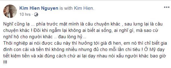 Kim Hiền đáp trả tin đồn: Không có tiền mà nổ.