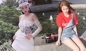 Sao Việt mê mẩn túi nhựa trong hot trend