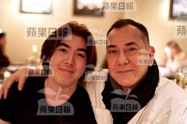 Hoàng Thu Sinh và con ngoài giá thú. Tấm ảnh do người tình của Thu Sinh cung cấp với tờ Apple Daily.