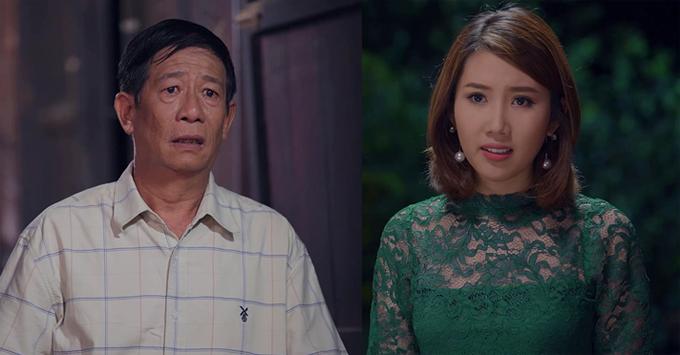 Thúy Ngân vào vai con dâu hỗn lão của cố nghệ sĩ Nguyễn Hậu trong phim.