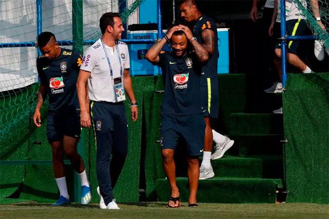 Marcelo vẫn phải tập riêng và khả năng ra sân ở trận tới còn bỏ ngỏ.