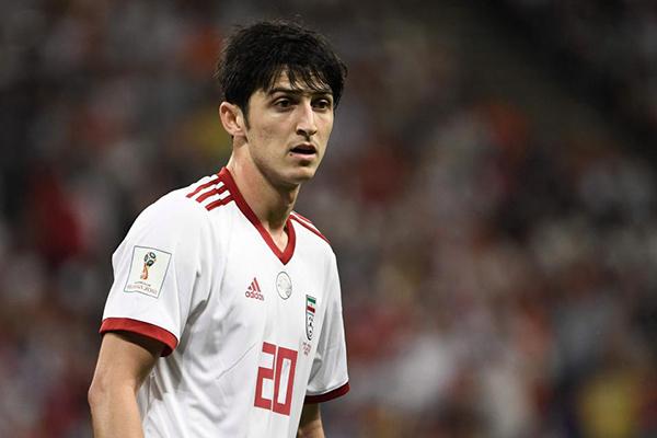 Sardar Azmoun là tài năng sáng giá của bóng đá Iran. Ảnh: ES.