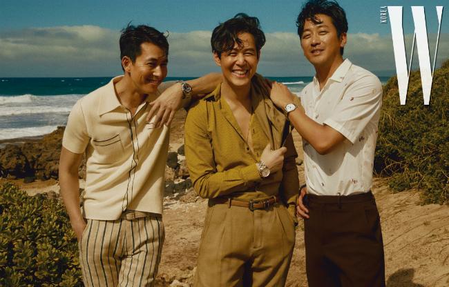 Bộ tam Lee Jung Jae, Jung Woo Sung, Ha Jung Woo xuất hiện trên tạp chí W số mới với vẻ bảnh bao, nam tính và chiếm trọn trái tim khán giả.