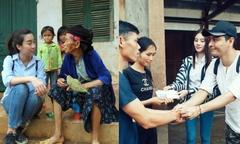 Đỗ Mỹ Linh, Jolie Nguyễn lên Hà Giang giúp đồng bào bị lũ lụt