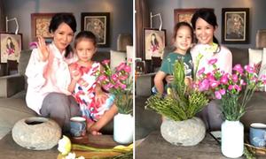 Hồng Nhung vừa hát opera vừa cùng con gái cắm hoa