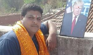 Người đàn ông Ấn Độ tôn thờ Tổng thống Trump như một vị thần