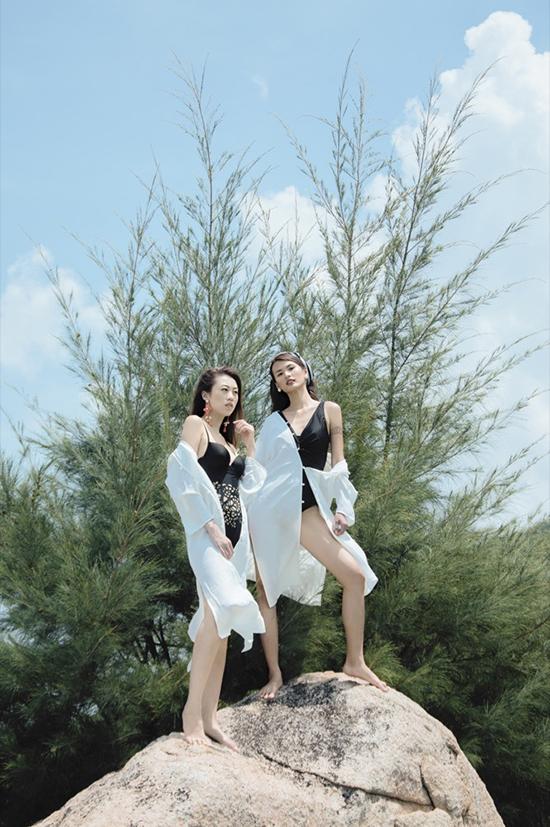 Cao Thiên Trang và Kikki Lê đã không ngần ngại về vòng 1 khiêm tốn của mình mà tự tin khoe những đường cong cơ thể của mình.