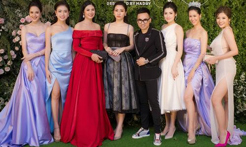 Dàn Hoa hậu, Á hậu chưng diện đi xem show của NTK Hà Duy