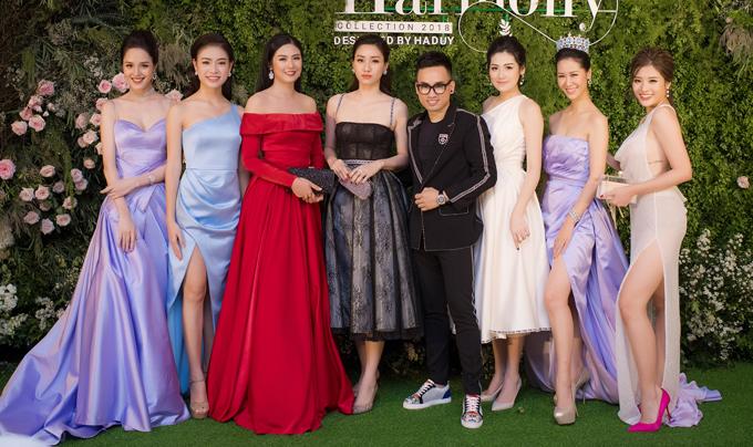Dàn Hoa hậu, Á hậu lộng lẫy xem show thời trang của NTK Hà Duy - 12